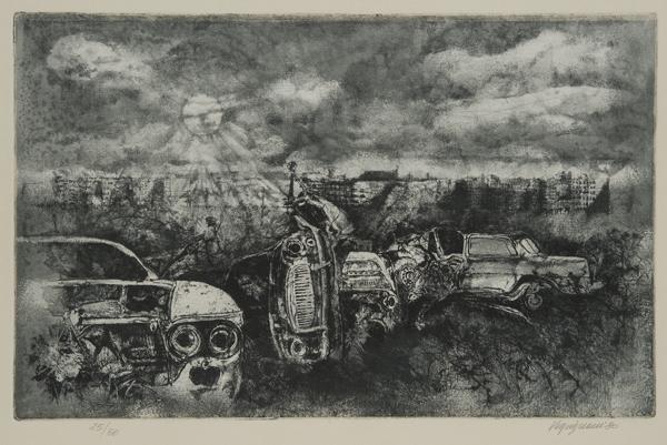 Carcasse d'auto, 1980