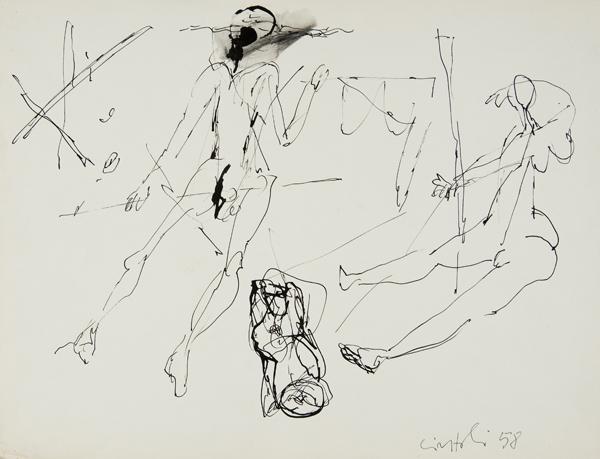 Studio di figure, 1958