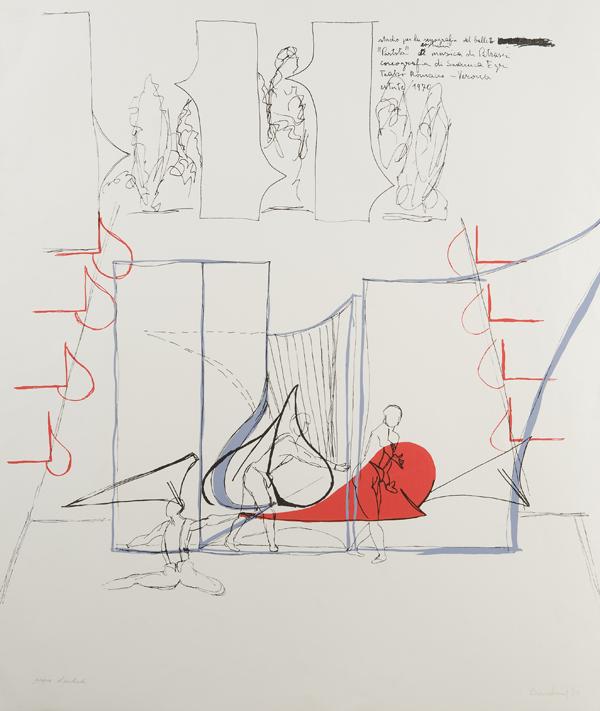 Studio per la scenografia del balletto 'Partita', 1970
