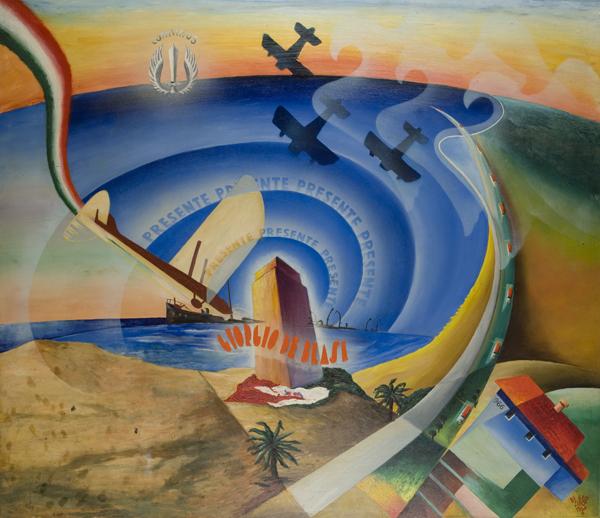 Nel vortice della gloria-sintesi plastica dell'apoteosi di Giorgio de Blasi, 1936