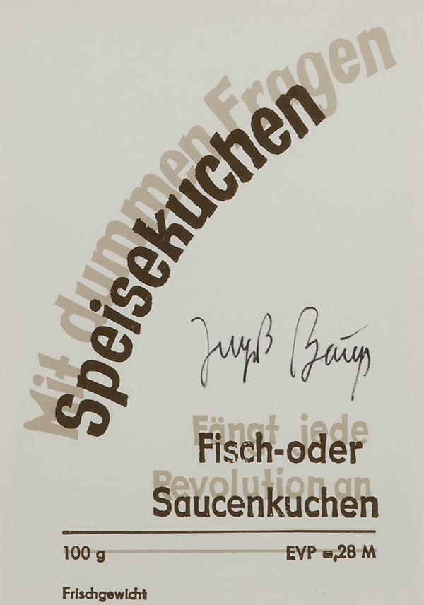 Speisekuchen – Serie D Documenta, 1977
