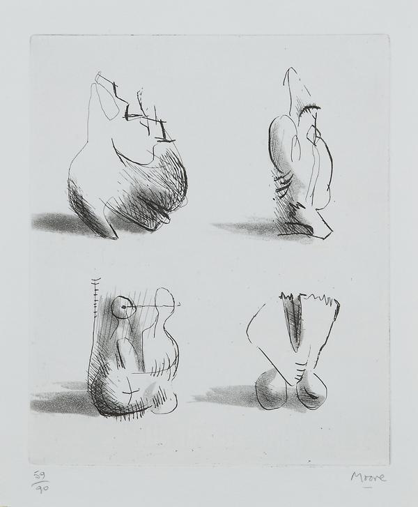 Four sculpture motives, 1971