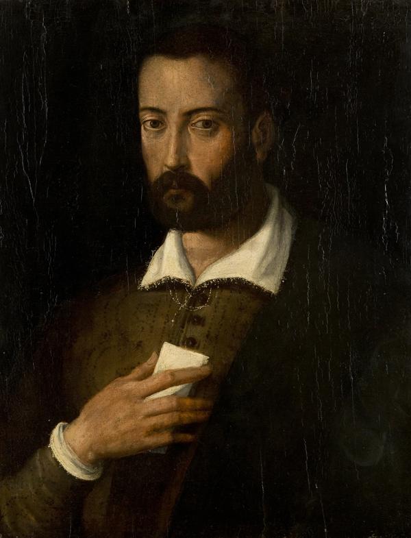 Ritratto di Francesco de'  Medici, a mezzo busto con lettera in mano