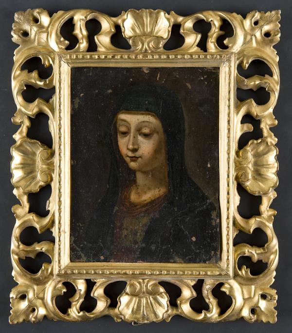 Madonna orante; e San Nicola di Bari