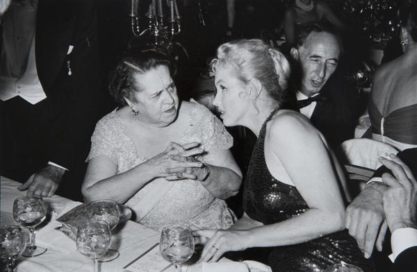 "Marilyn Monroe and Elsa Maxwell at the ""April in Paris"", Waldorf Astoria New York, 1957"