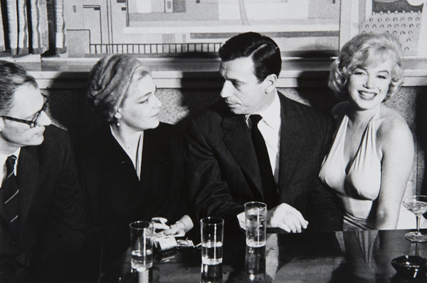 Marilyn Monroe, Yves Montand, Simone Signoret and Arthur Miller, 1960