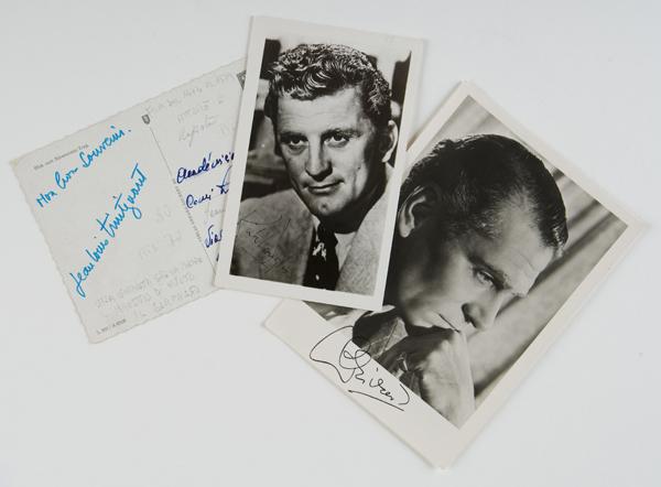 Fotografia e foto-cartolina autografate
