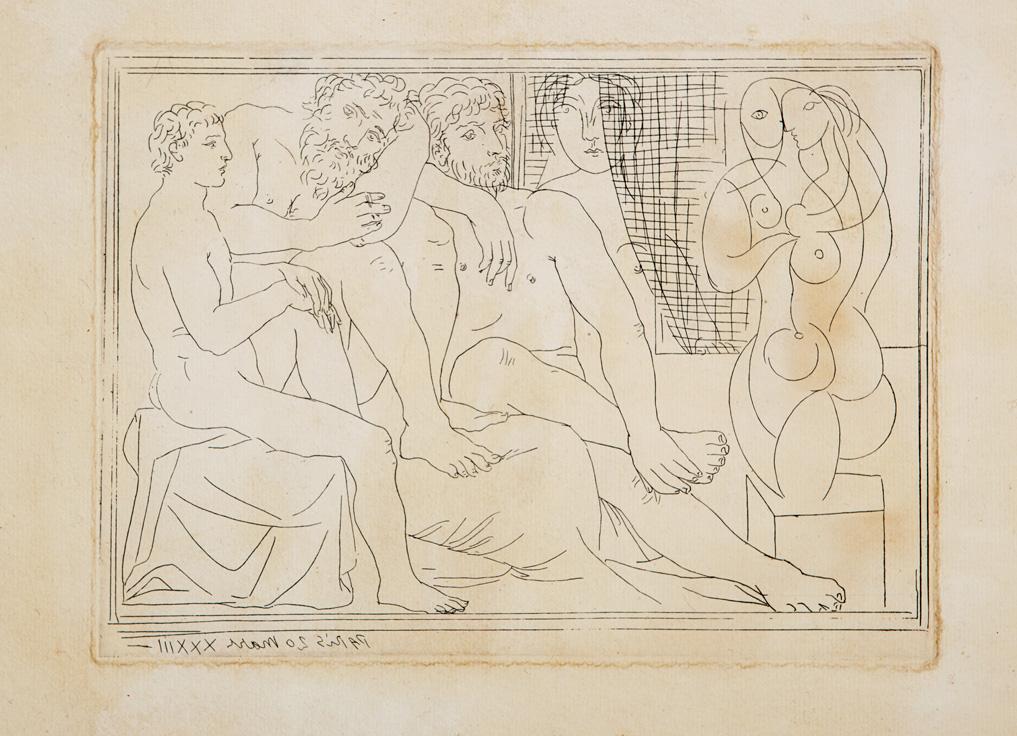Sculpteurs, Modèles et Sculpture, Suite Vollard, Tav. 41, 1933