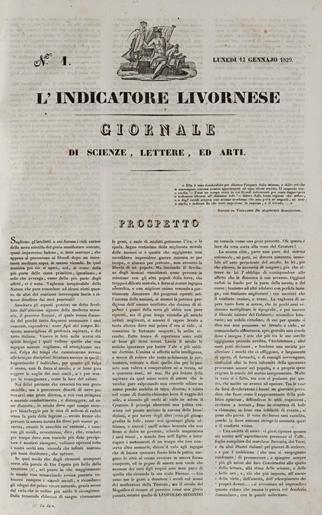 L'Indicatore Livornese. Giornale di scienze, lettere, ed arti
