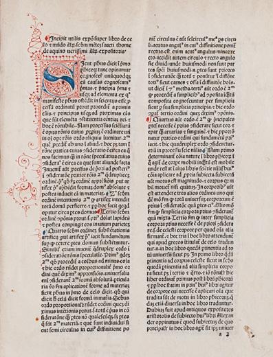 Expositio super Aristotelis libros De caelo et mundo