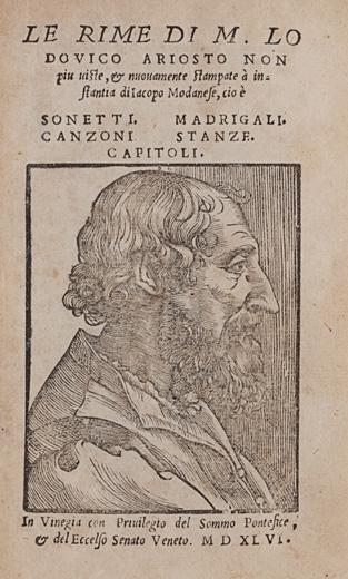 Le Rime di m. Lodouico Ariosto non piu uiste, & nuouamente stampate à instantia di Iacopo Modanese…Le satire