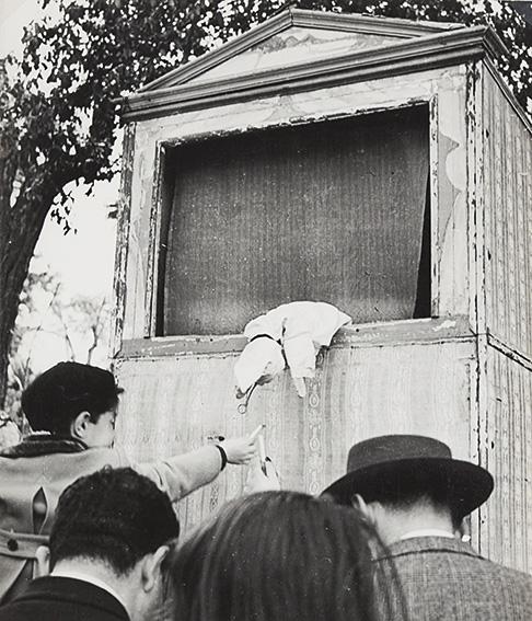 Sigaretta a Pulcinella, Burattini del Pincio, Roma, ca. 1950