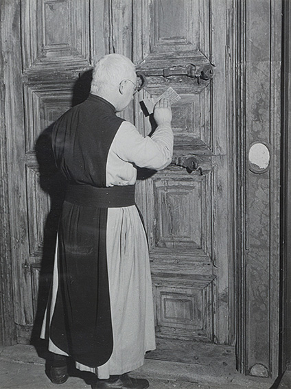 """Old Ladies"" and ""Priest to work"", ca. 1950"