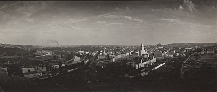 Panoramic view of Prague, ca. 1958