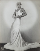 Joséphine Baker in white dress, ca. 1920