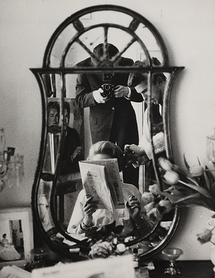 Simone Signoret through the looking glass, ca. 1970