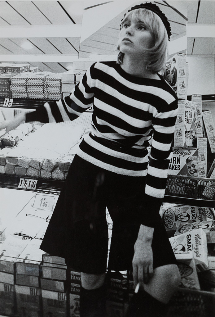 Model at the supermarket, ca. 1970