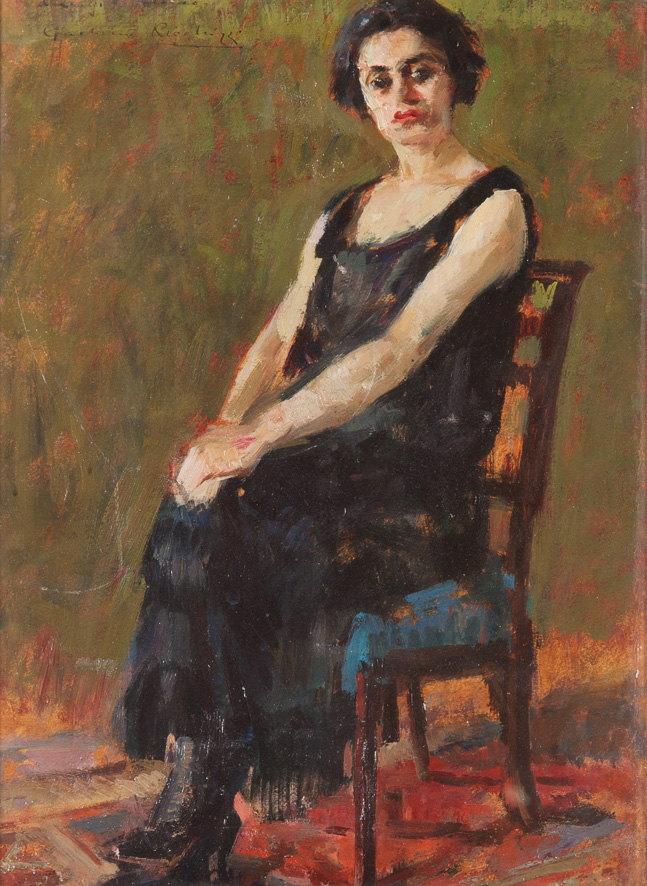 Ritratto di signora in nero