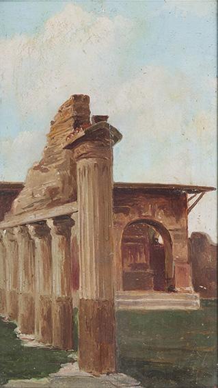 a) Interno pompeianob) Angolo di Pompei
