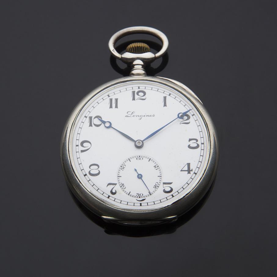 Orologio da tasca Longines in argento 800