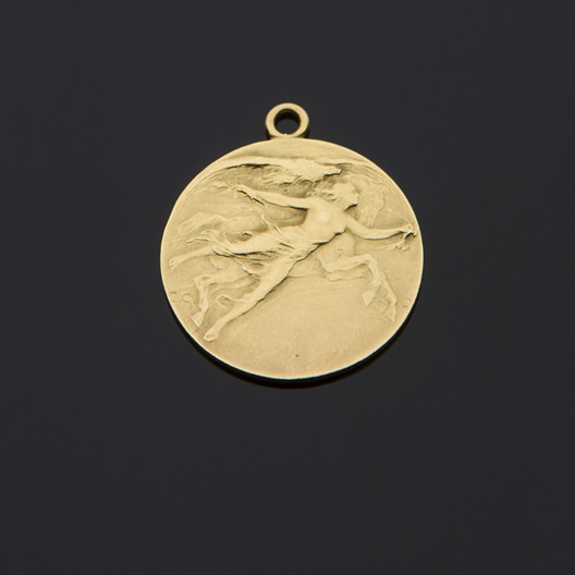 Medaglia in oro giallo 18 kt