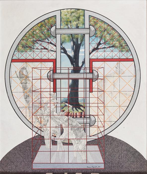Composizione con cerchio, 1975
