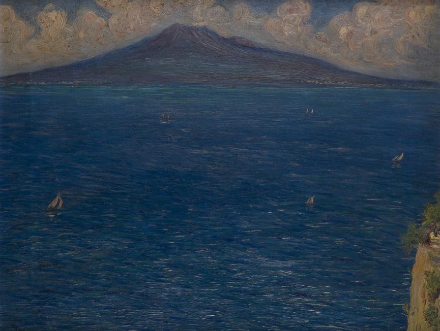Veduta della Baia di Napoli con il Vesuvio