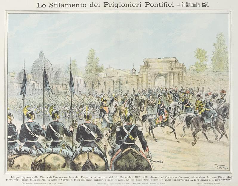 Lo sfilamento dei prigionieri pontifici –  21 Settembre 1870