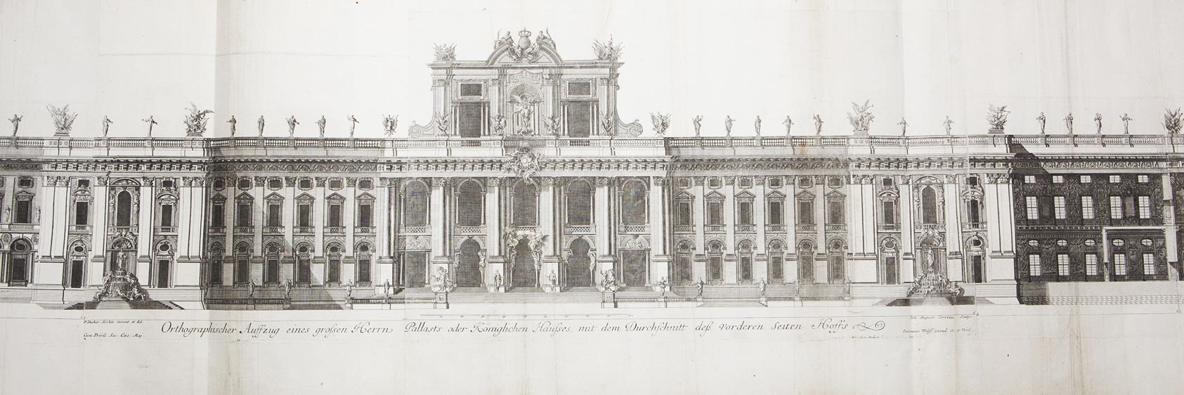 Prospetto principale del Palazzo Reale