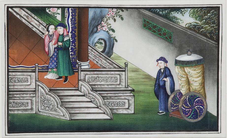 Acquerelli su carta riso, Cina secolo XIX