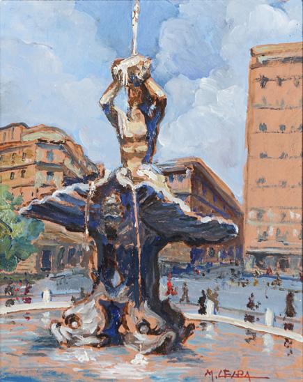 Roma, la fontana del Tritone a Piazza Barberini