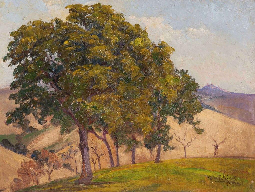 Alberi sulla collina nei pressi di Roma