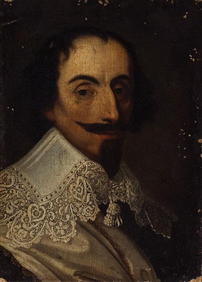 Ritratto di gentiluomo a mezzo busto, con colletto di pizzo bianco