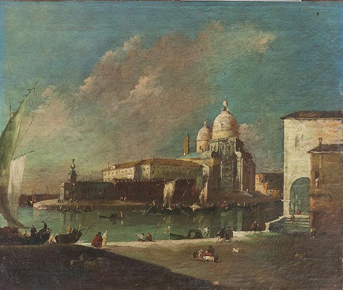 Capriccio con la Chiesa della Salute e la punta della Dogana; e Veduta di Cannaregio con il Ponte dei Tre Archi