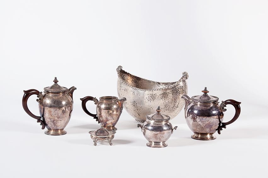 Servizio da tè in argento 800