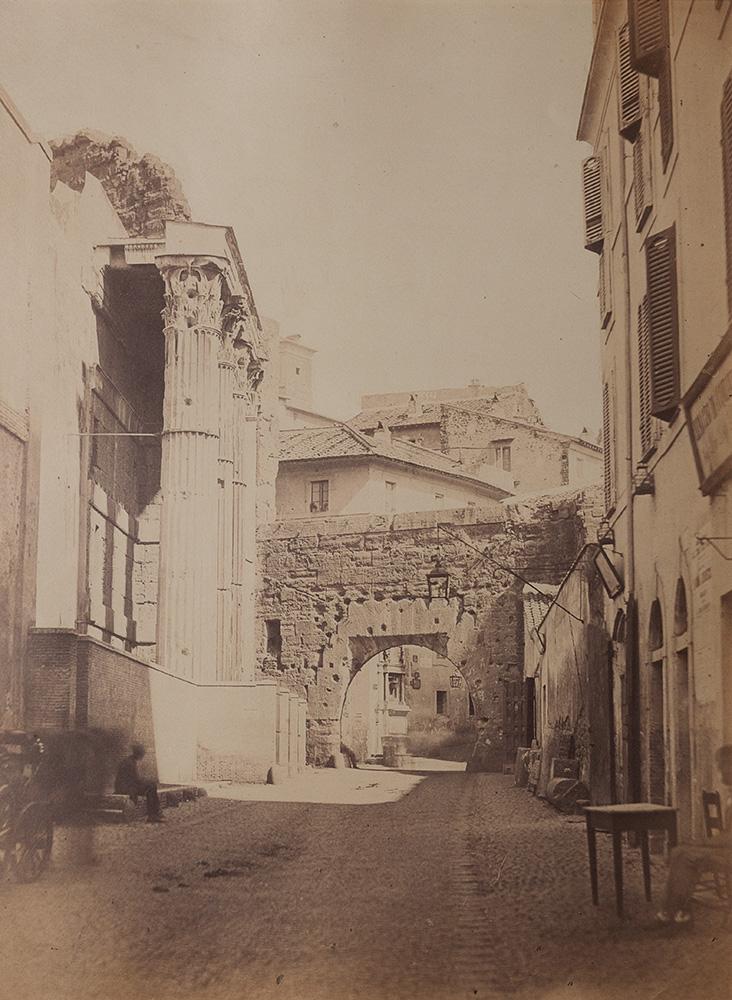 Roma, Largo dei Pantani, Tempio di Marte Ultore, ca. 1860