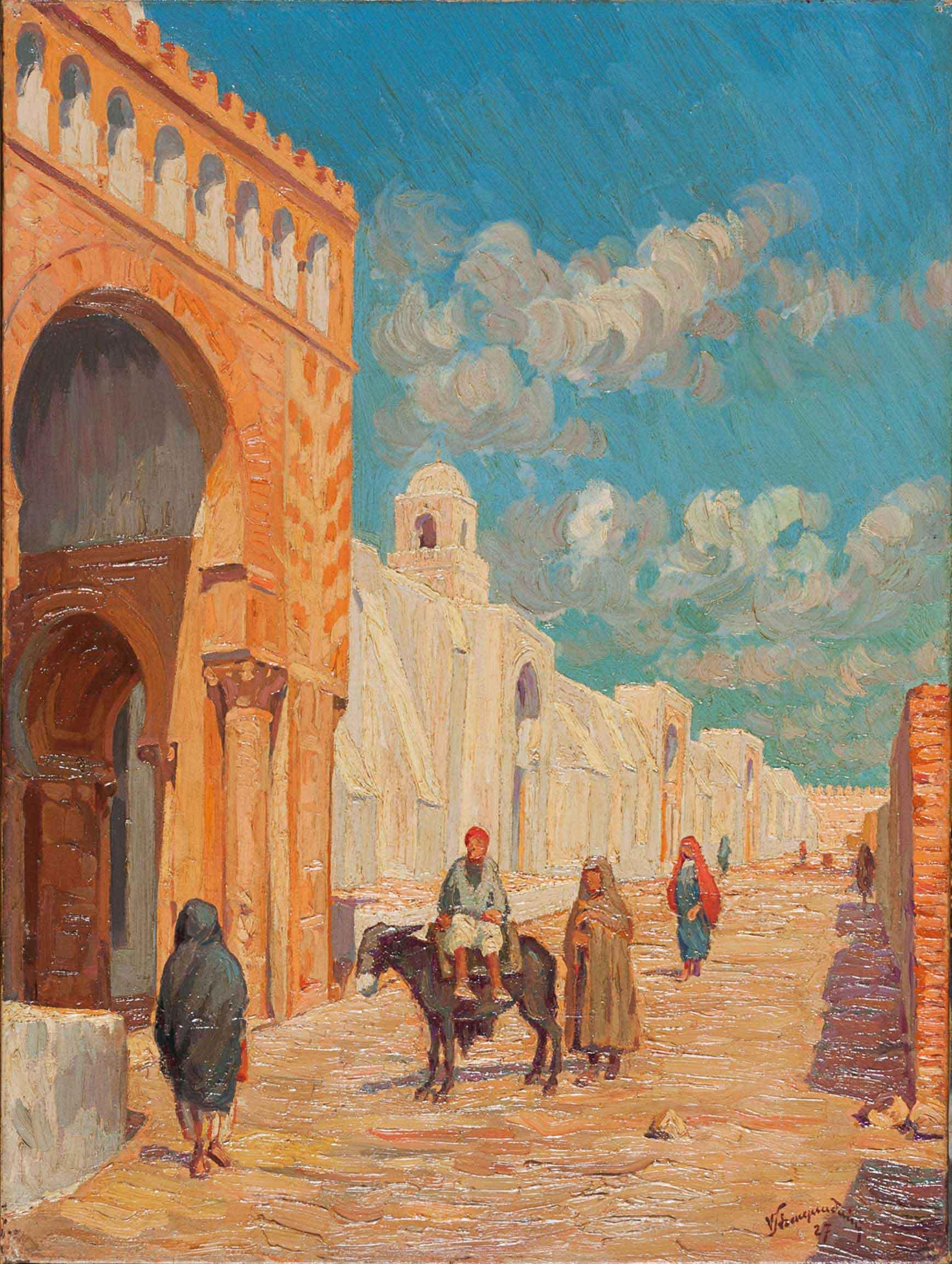 Kairuan, la Grande moschea, 1927