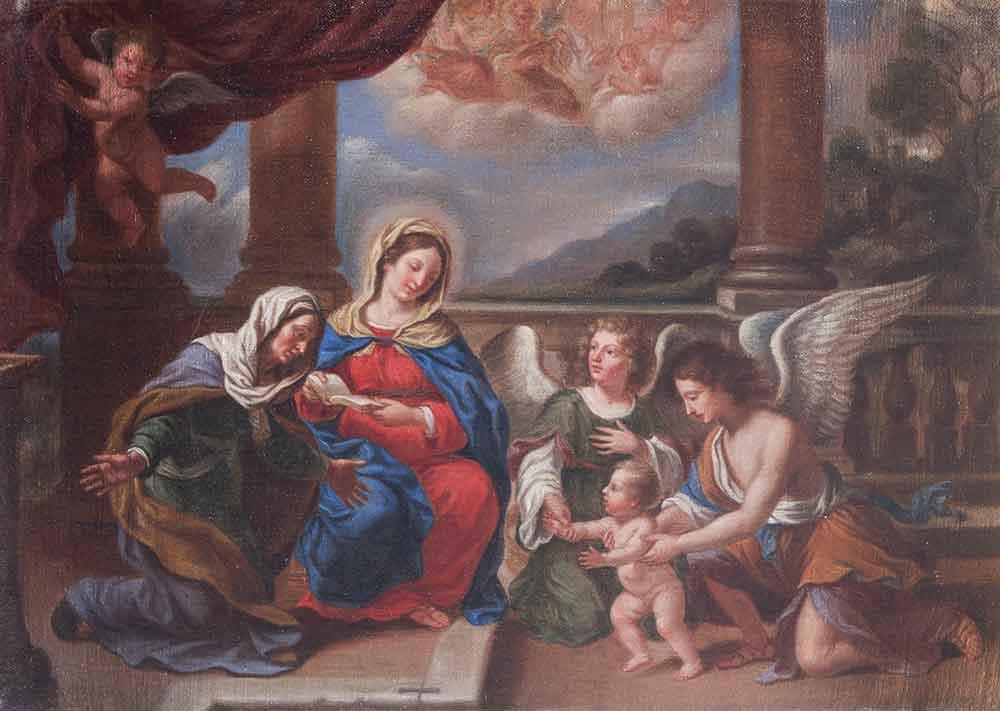 Madonna con Bambino, Sant'Anna e Angeli