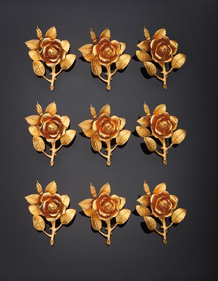 Set di 12 rose segnaposto