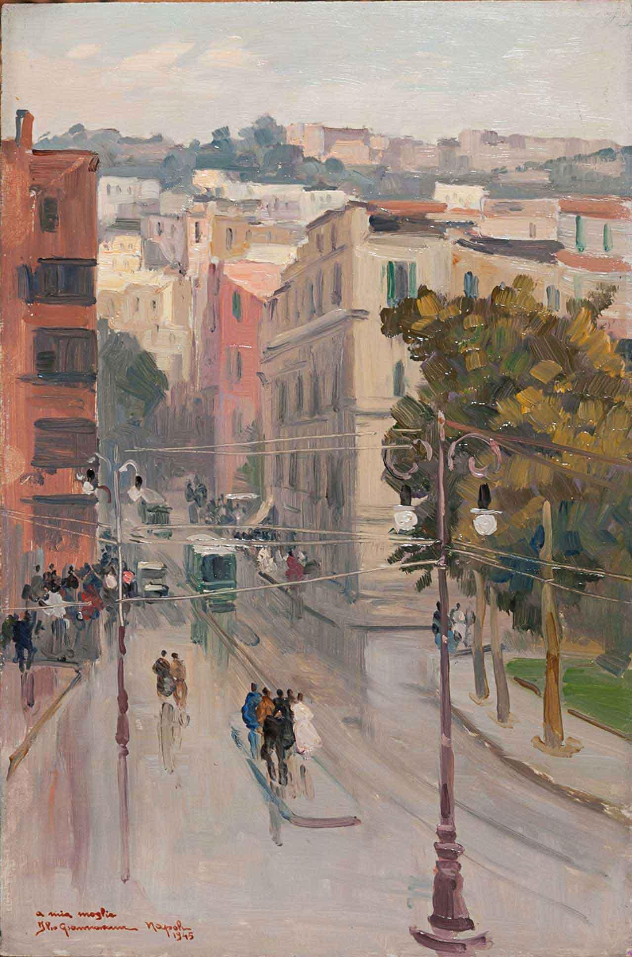 """""""Napoli, via Mergellina, 1945"""""""