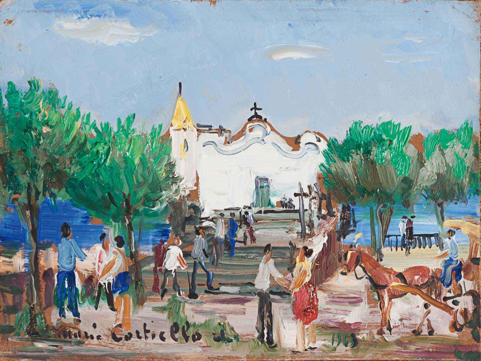 """""""Ischia, la chiesetta del Soccorso"""", 1963"""