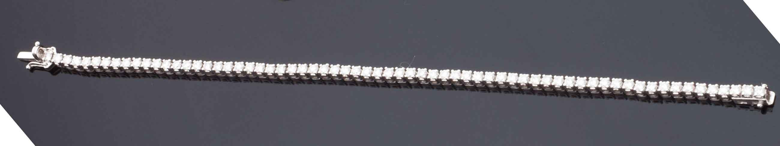 Bracciale tennis in oro bianco 18 kt