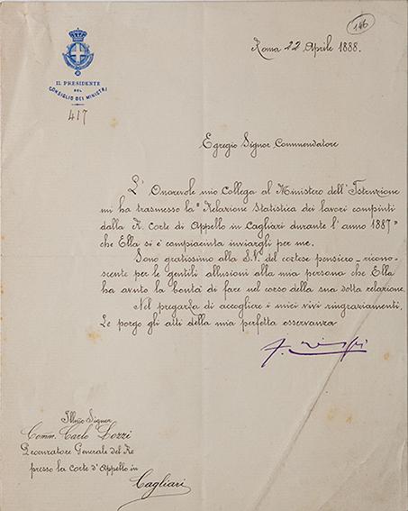 Lettera con firma