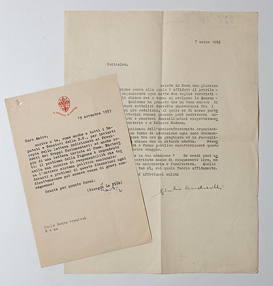Lettere con firme autografe