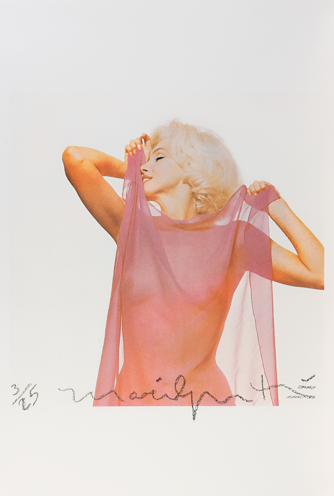 Marilyn with pink scarf, The Last Sitting, 1962