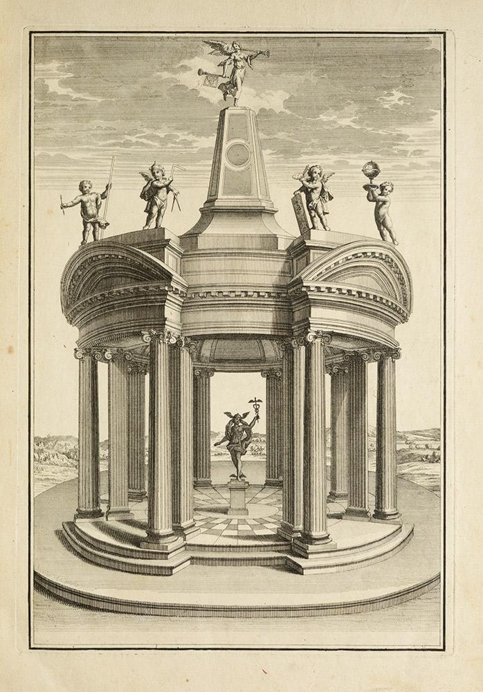La perspective practique de l'architecture contenant par lecons une maniere nouvelle, courte et aisee pour representer en perspective les ordonnances d'architecture et les places fortifiees