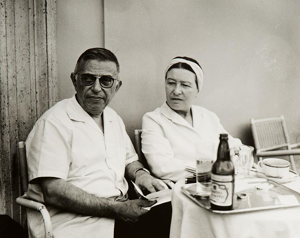 Jean-Paul Sartre e Simone de Beauvoir, ca. 1963