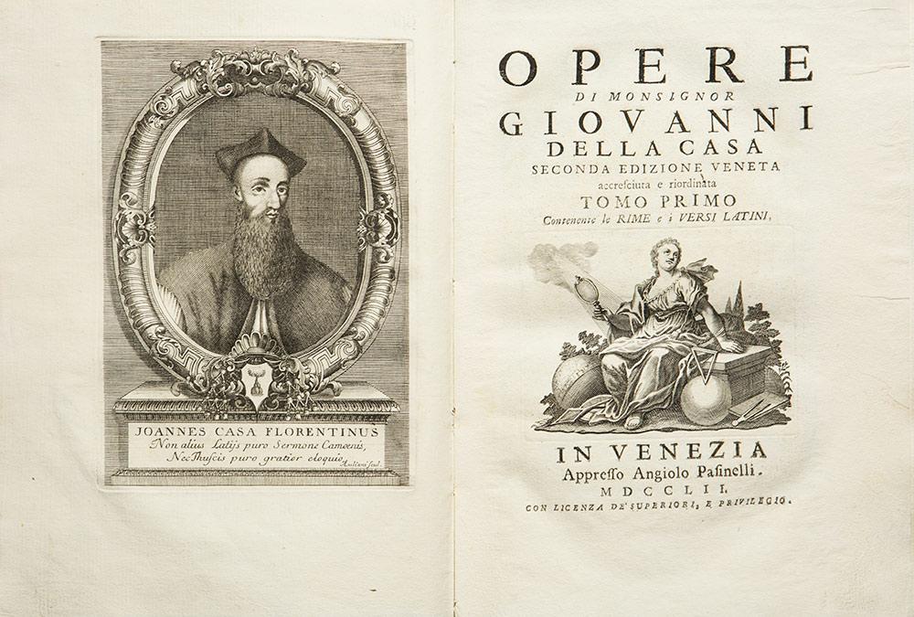 Opere di monsignor Giovanni Della Casa. Seconda edizione veneta accresciuta e riordinata