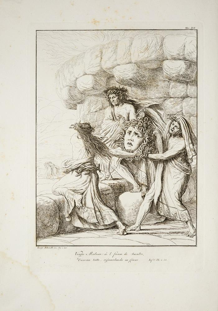 La Divina commedia di Dante Alighieri con tavole in rame