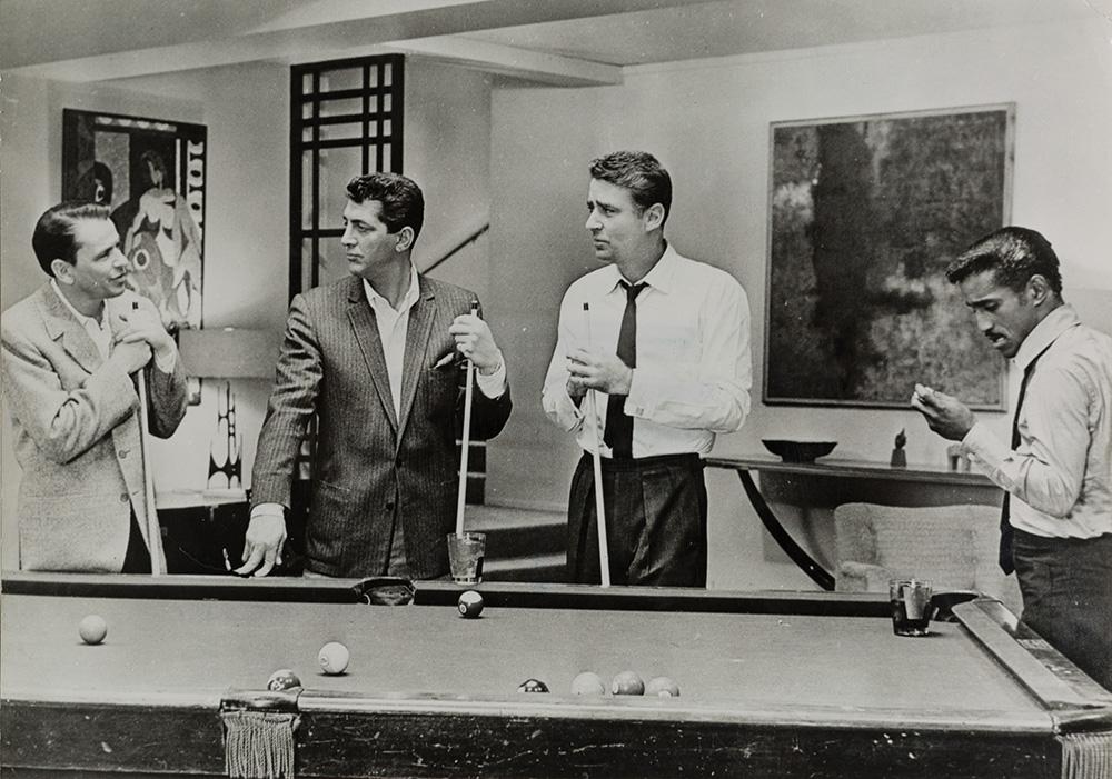 The Rat Pack, Frank Sinatra, Dean Martin, Peter Lawford e Sammy David Jr., ca. 1960